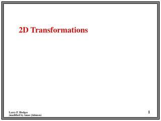 2D Transformations