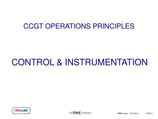 CCGT OPERATIONS PRINCIPLES