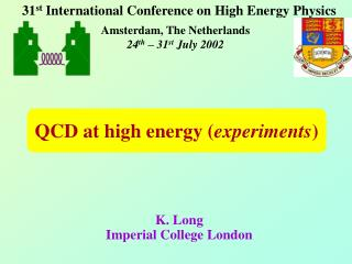 QCD at high energy ( experiments )