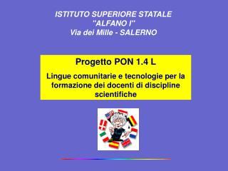 Progetto PON 1.4 L