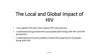 Global Impact of HIV