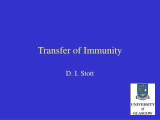 Transfer of Immunity