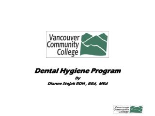 Dental Hygiene Program By Dianne Stojak RDH , BEd,  MEd