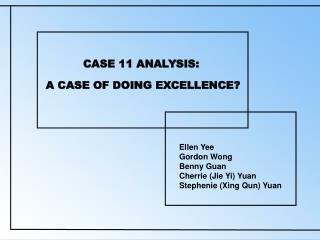 CASE 11 ANALYSIS: