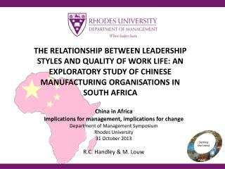 China in Africa Implications for management, implications for change