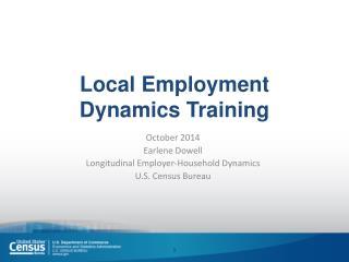 Local Employment Dynamics Training