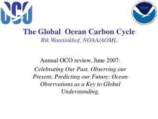 The Global  Ocean Carbon Cycle Rik Wanninkhof, NOAA/AOML