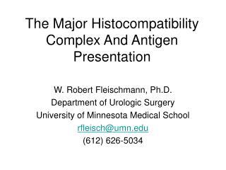 The Major Histocompatibility Complex And Antigen Presentation