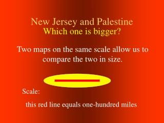 New Jersey and Palestine