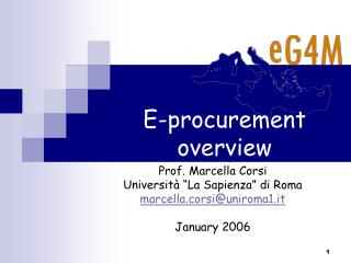 E-procurement overview