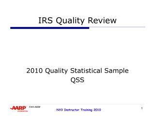 IRS Quality Review