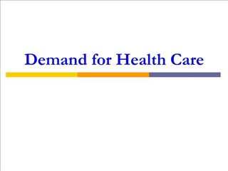 Demand for Health Care