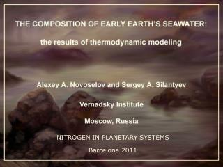 NITROGEN IN PLANETARY SYSTEMS Barcelona 2011