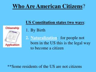 Who Are American Citizens ?