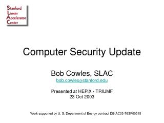 Computer Security Update