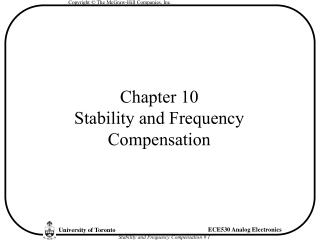 Chapter 10 Stability and Frequency Compensation