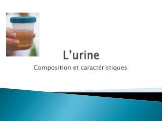 L'urine