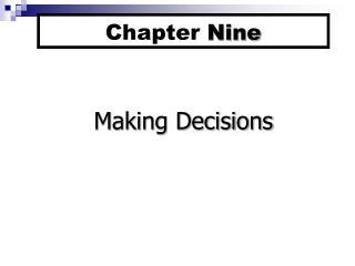 Chapter Nine