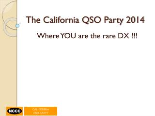 The California QSO Party 2014
