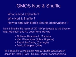 GMOS Nod  Shuffle