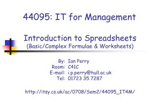 44095: IT for Management