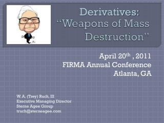 �Weapons of Mass Destruction�