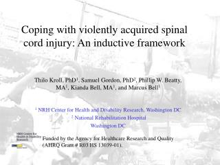 Coping with violently acquired spinal cord injury: An inductive framework