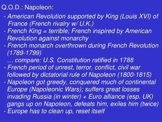 Q.O.D.: Napoleon: