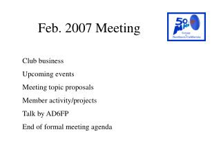 Feb. 2007 Meeting