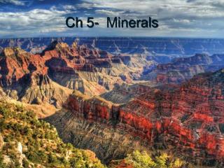 Ch  5-  Minerals