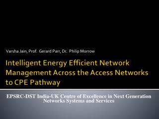 Intelligent Energy Efficient Network Management Across the Access Networks to CPE Pathway