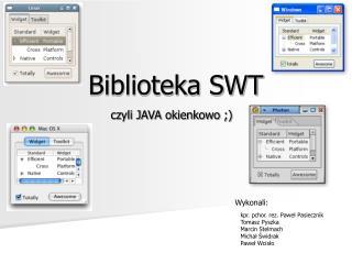 Biblioteka SWT