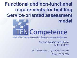 Functional and non-functional requirements for building  Service-oriented assessment model