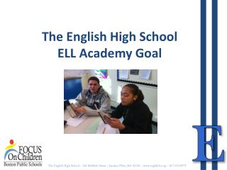 The English High School ELL Academy Goal