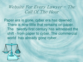 Internet Marketing ??? A boon for lawyers