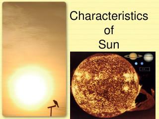 Characteristics  of  Sun