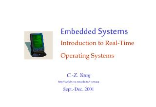 Embedded  Systems Introduction to Real-Time Operating Systems