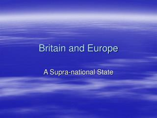 Britain and Europe