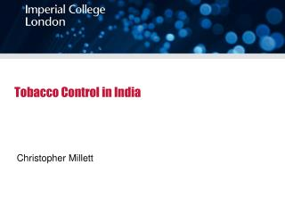 Tobacco Control in India