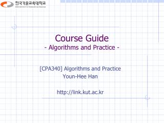 Course Guide - Algorithms and Practice -