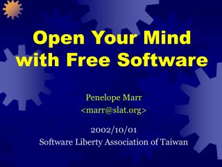 Open Your Mind with Free Software