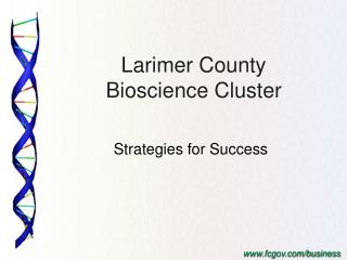 Larimer County  Bioscience Cluster