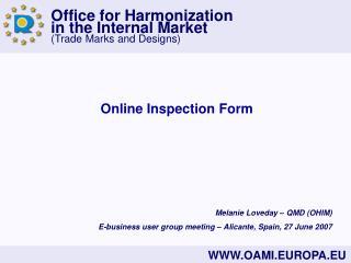Online Inspection Form