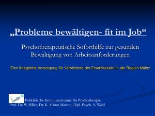 """Probleme bewältigen- fit im Job"""