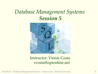 Database Management Systems Session 5
