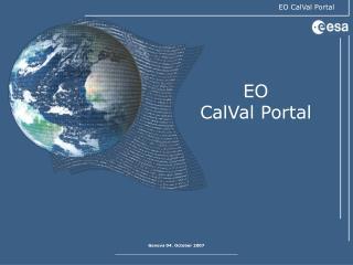 EO CalVal Portal