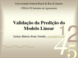 Validação da Predição do Modelo Linear