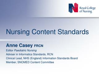 Nursing Content Standards