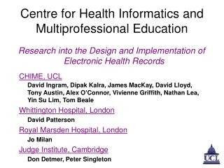 Centre for Health Informatics and Multiprofessional Education
