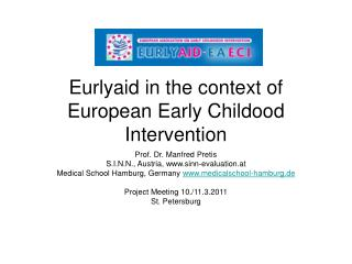 Eurlyaid in the context of European Early Childood Intervention